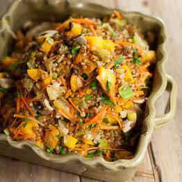 Salade de germe de blé à la courge rôtie